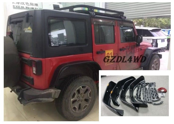 Chiny Jeep Wrangler Eyebrow 4 Doors , JK Crusher Wheel Arch Flares With Lights fabryka