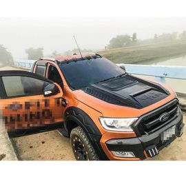 LED Front Roof Spoiler 4x4 Body Kits For Ford Ranger T6 T7 2012 2019